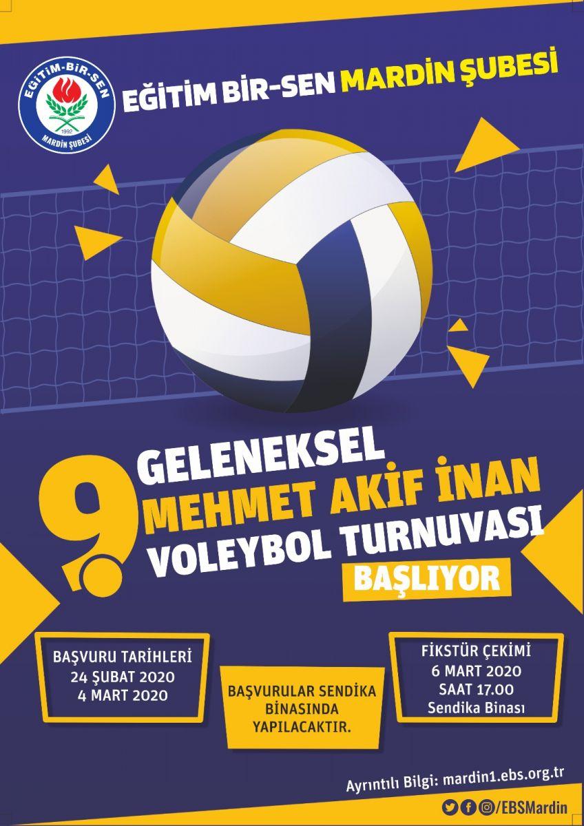 Mehmet Akif İnan 9. Geleneksel Voleybol Turnuvamız başlıyor